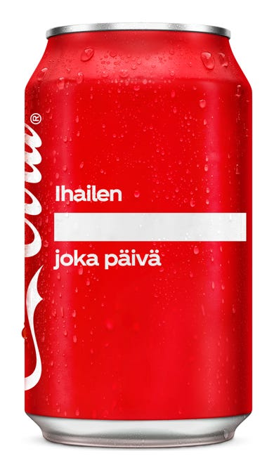 Ihailen ________________ joka päivä - Coca-Cola Original Taste