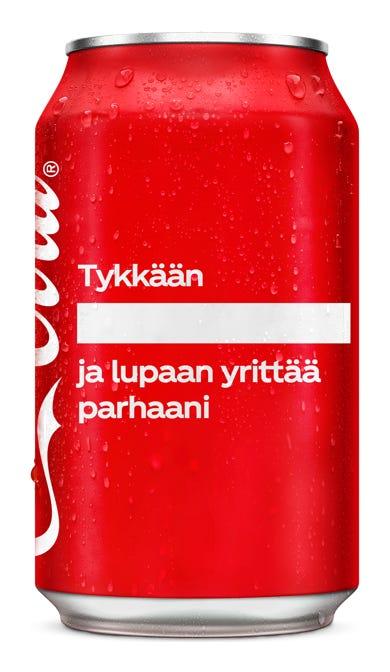 Tykkään ___________ ja lupaan yrittää parhaani - Coca-Cola Original Taste
