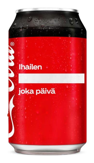 Ihailen ________________ joka päivä - Coca-Cola Zero Sugar